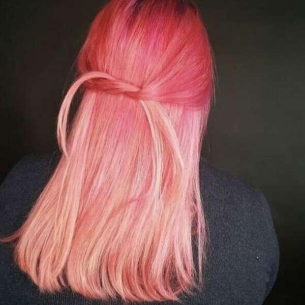 Pink hair june